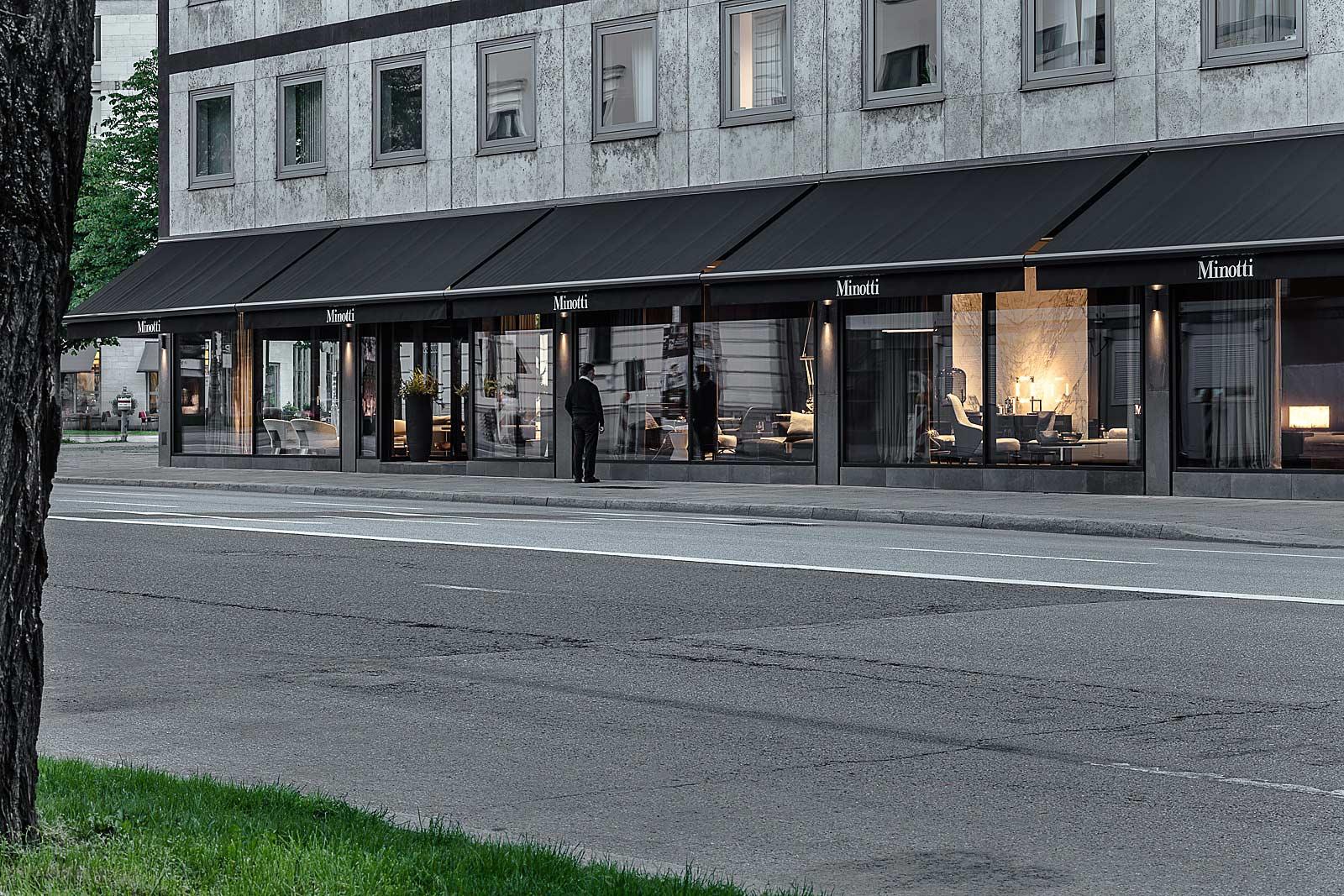 München Architektur Fotograf, Aussenansicht Geschäft in München