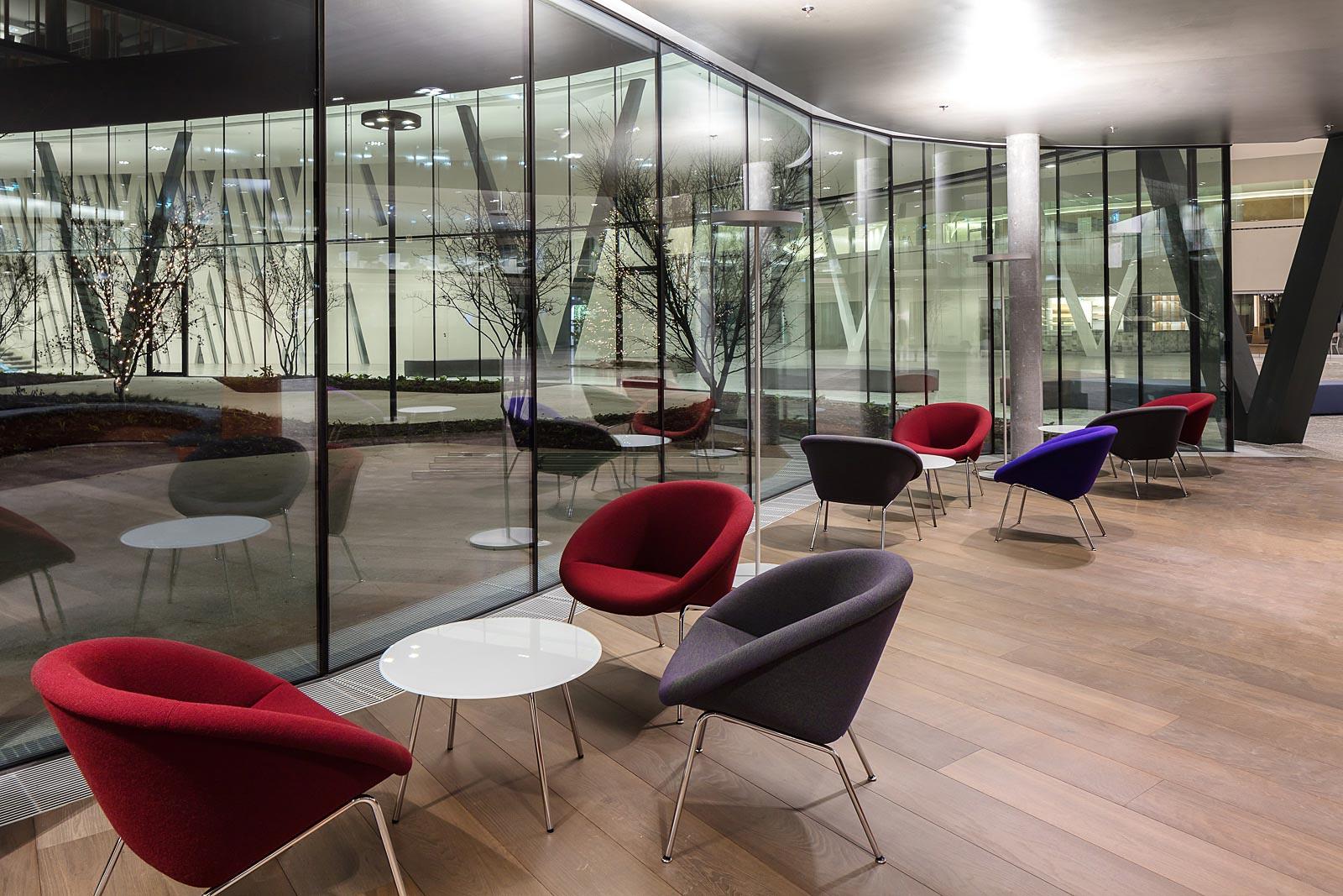 München Architekturfotograf, Lounge Walter Knoll, Interior Fotografie in Wien