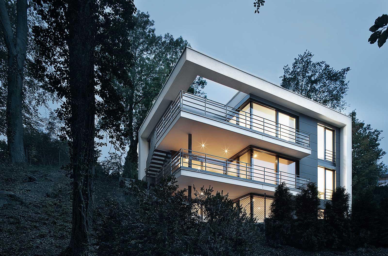 Fotos Einfamilienhaus, Architekturfotografie aus München, Architekturfotos