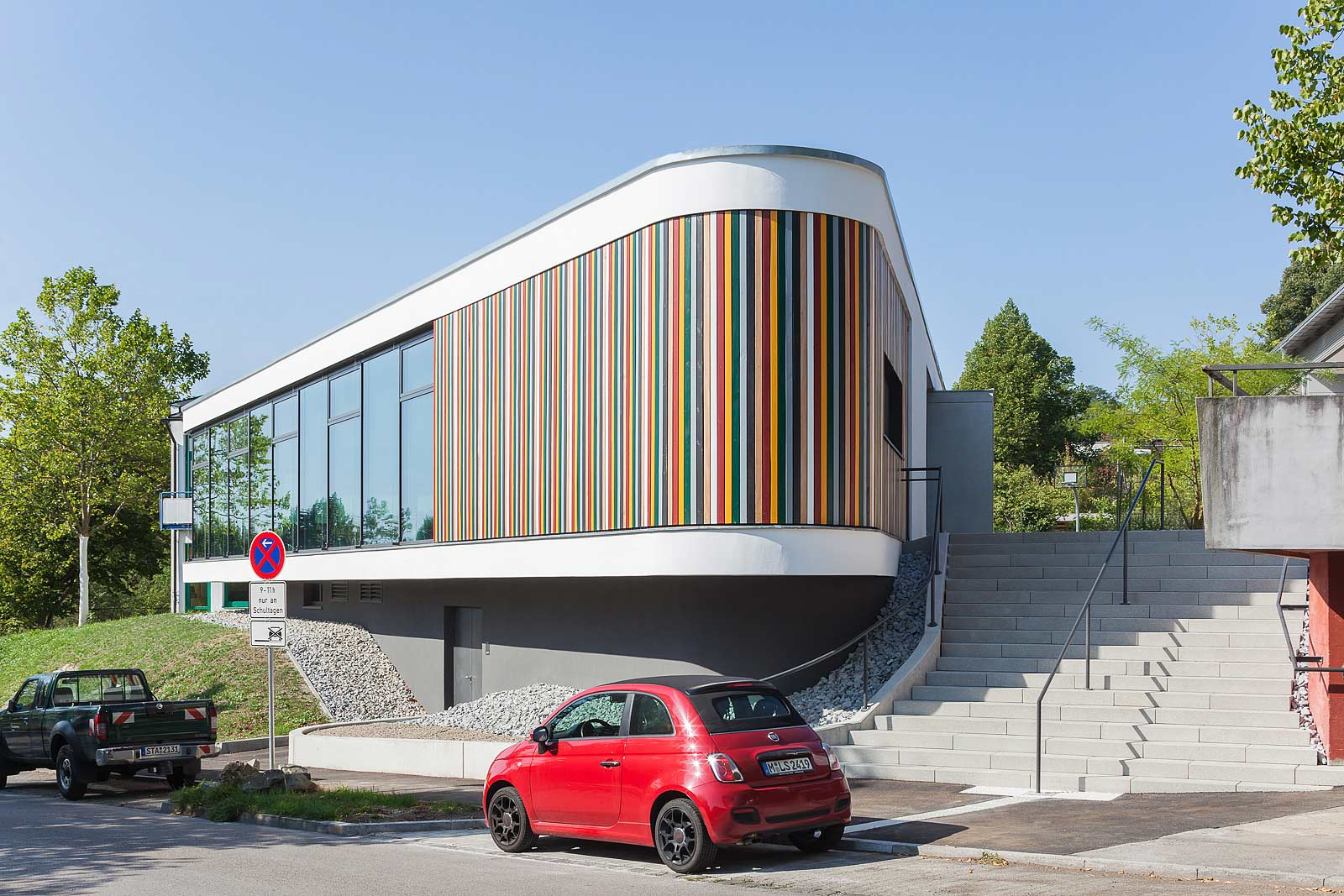 München Architekturfotograf, Fotos von Architektur in Starnberg, Mensa Grundschule