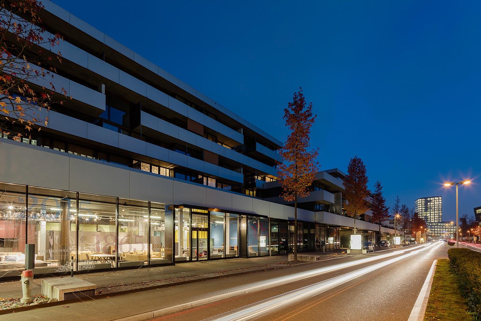Architekturfotografie Innenraum, Architekturfotograf Zürich, Abendaufnahme und Innenaufnahmen,