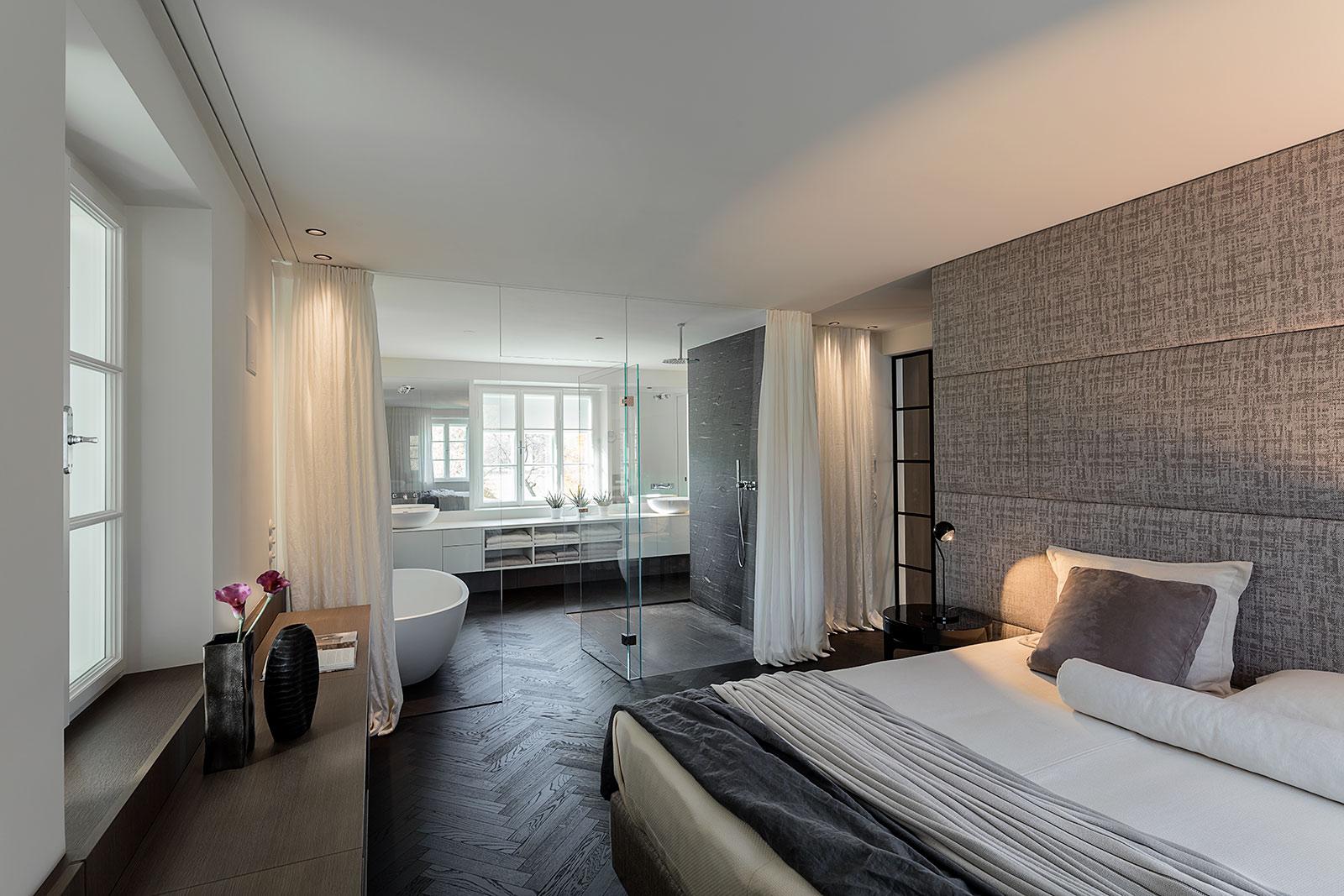 Innenarchitektur Fotograf, München und Salzburg, Interior Schlafzimmer und Bad